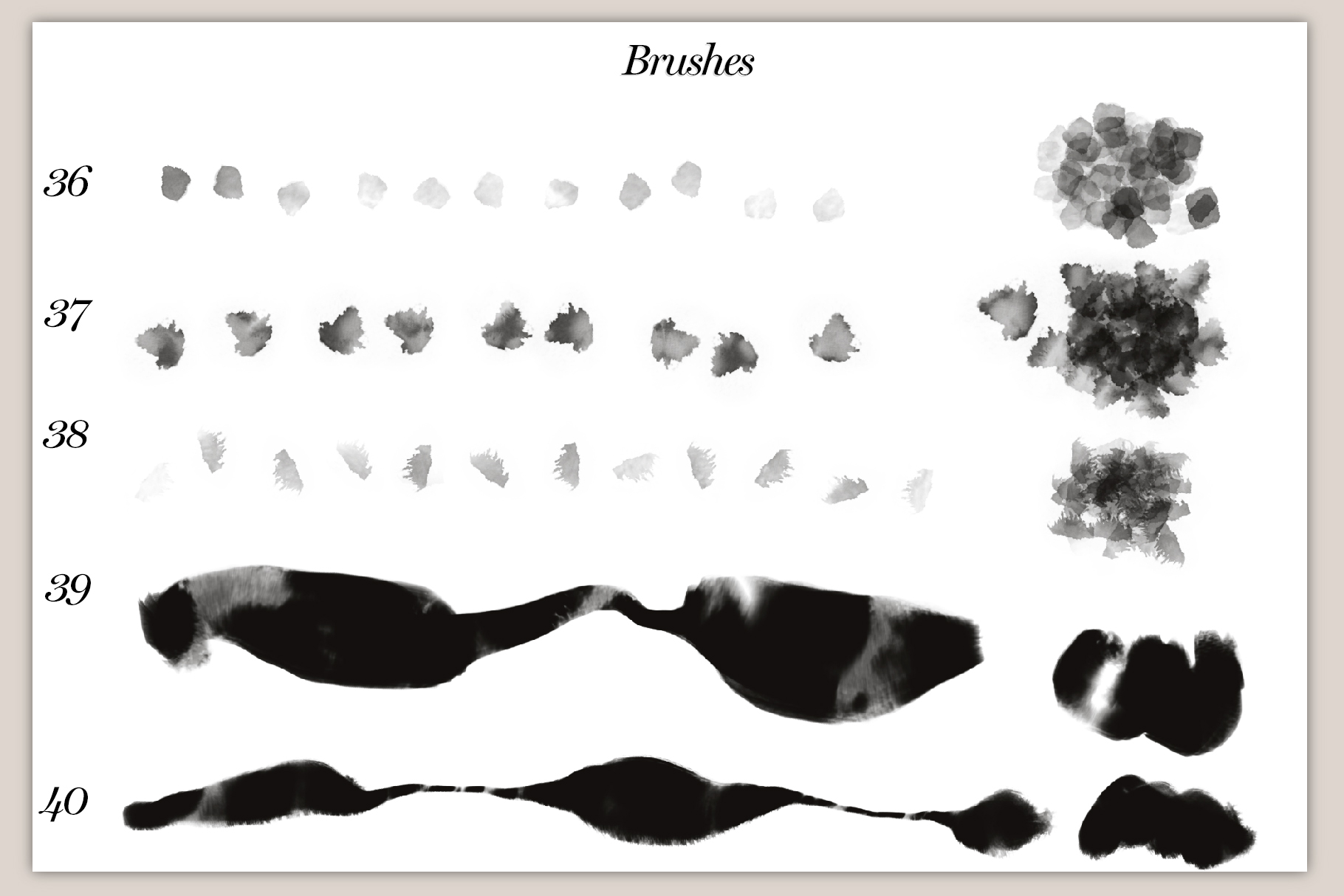 40 Artistic Painting Brushes for Procreate example image 10