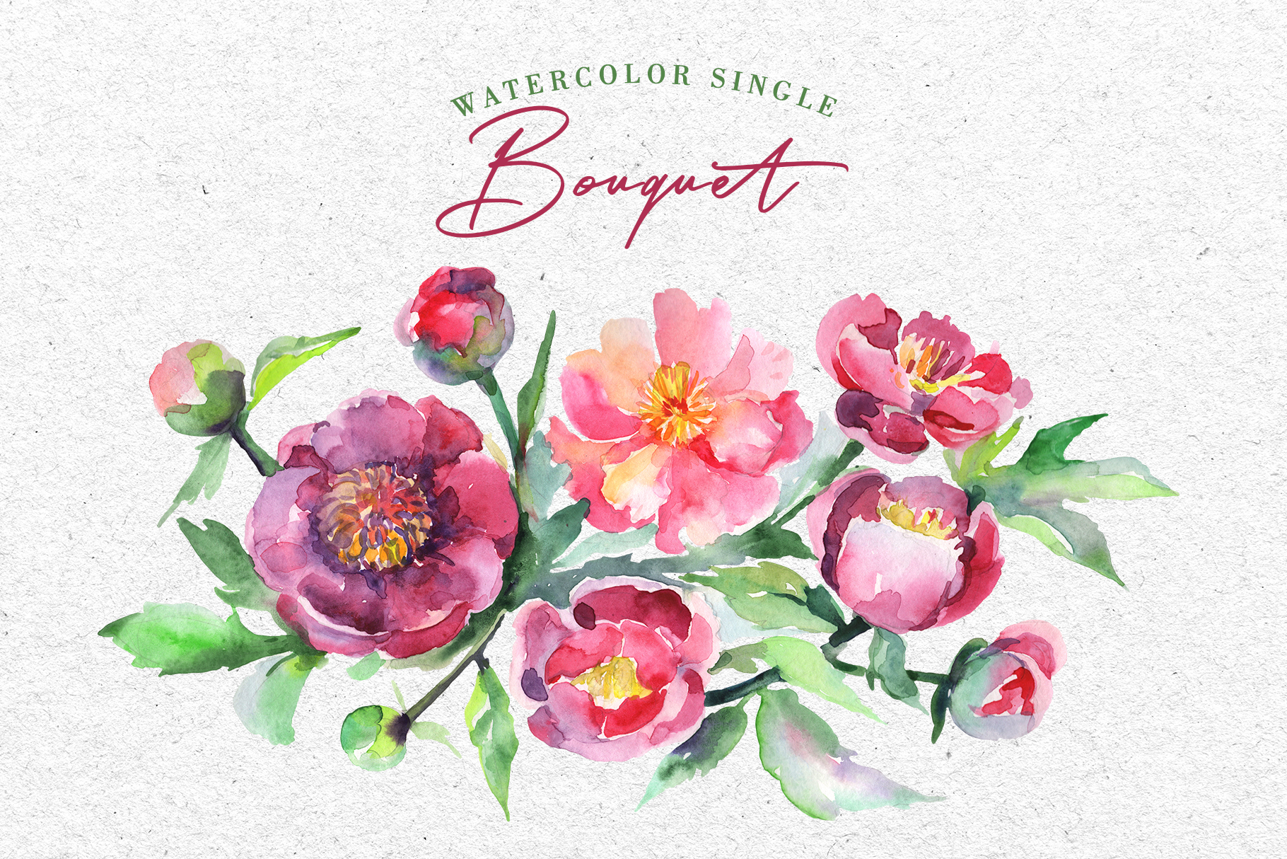 Bouquet of tea roses pink Watercolor png example image 7