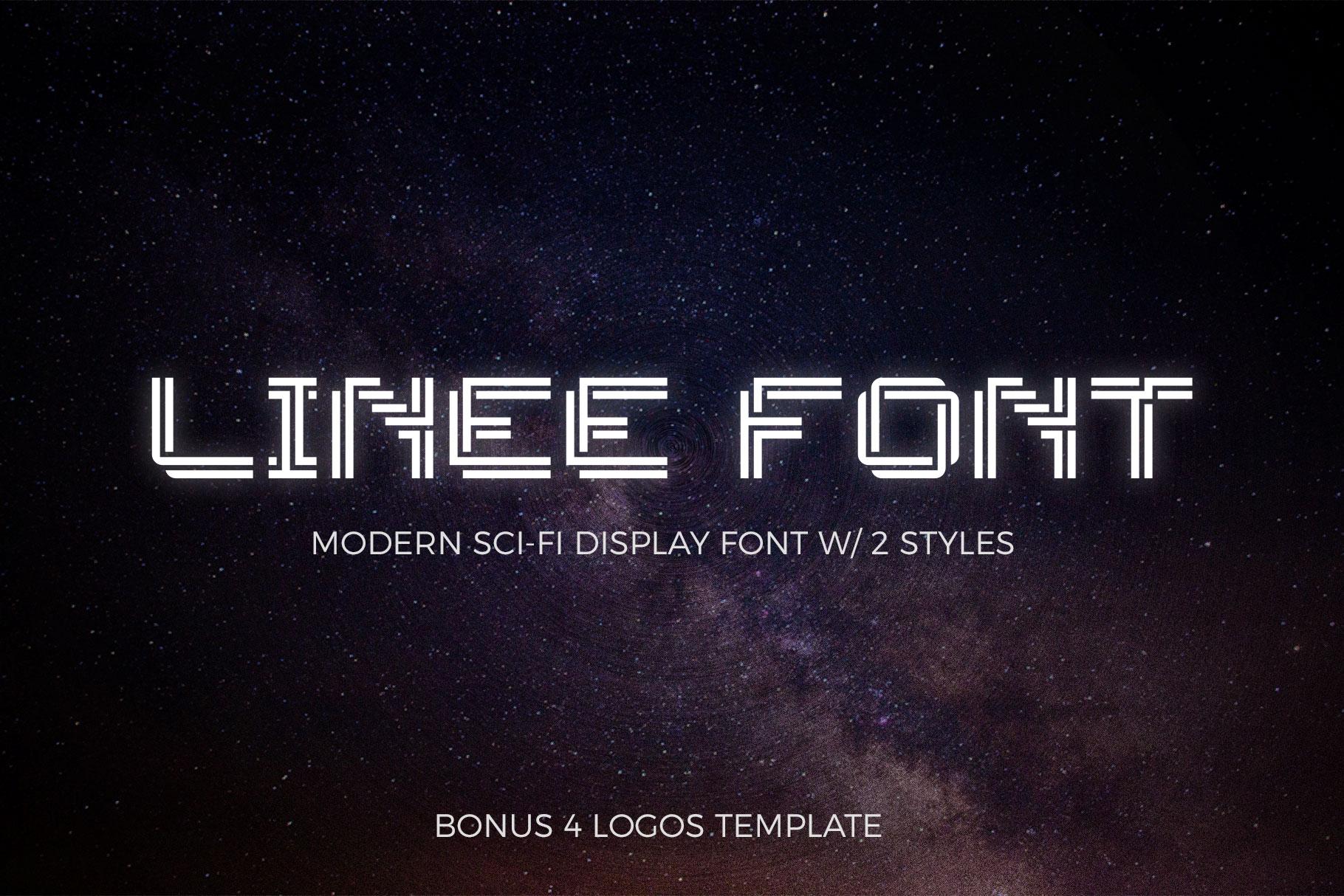 LINEE Display - Scifi & Modern Look example image 2