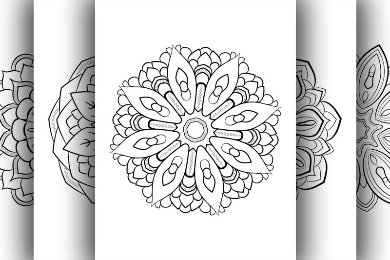 Coloring with 50 floral mandalas. Part two. example image 7