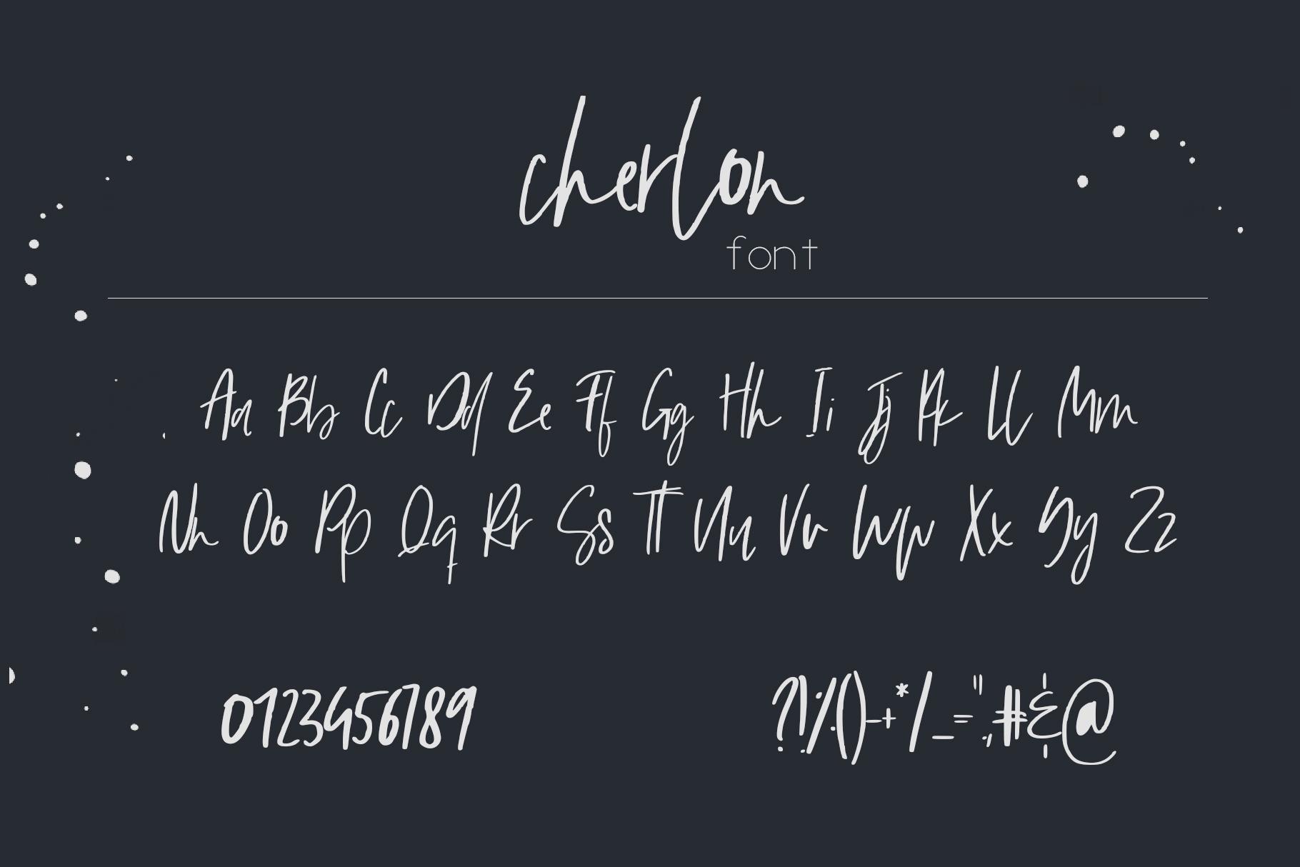 Cherlon Font example image 11