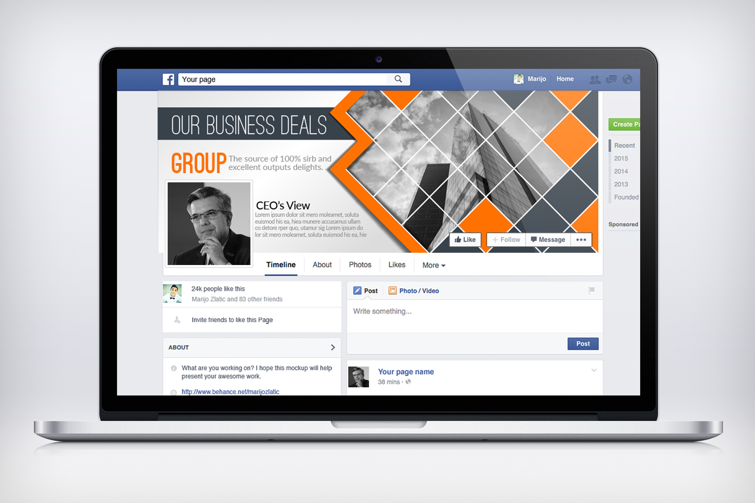 Business Facebook Timelines 02 example image 3