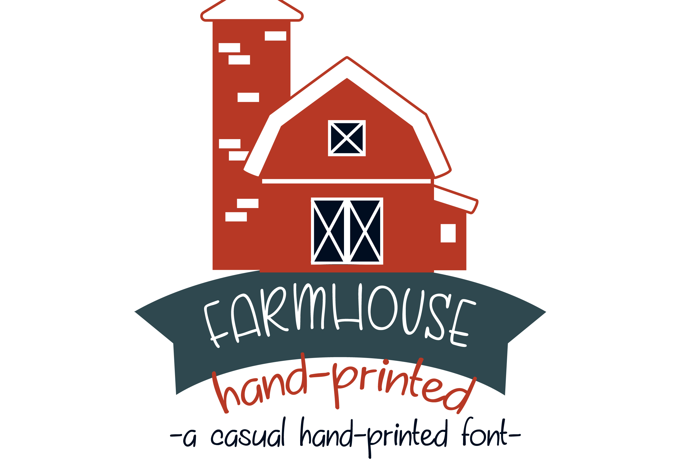PN Farmhouse Hand-printed example image 1