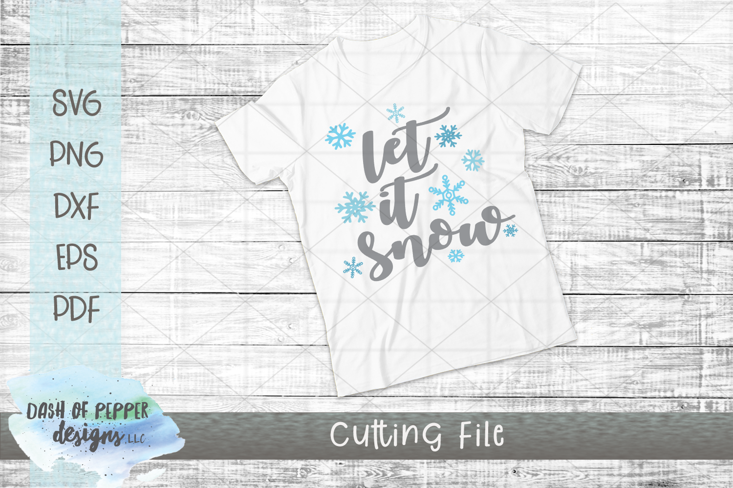 Let It Snow SVG - A Christmas SVG example image 2