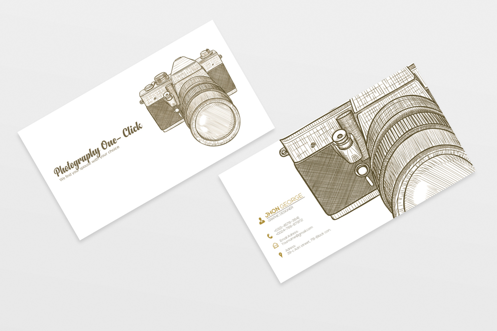 Vintage Retro Photography Business Cards example image 4