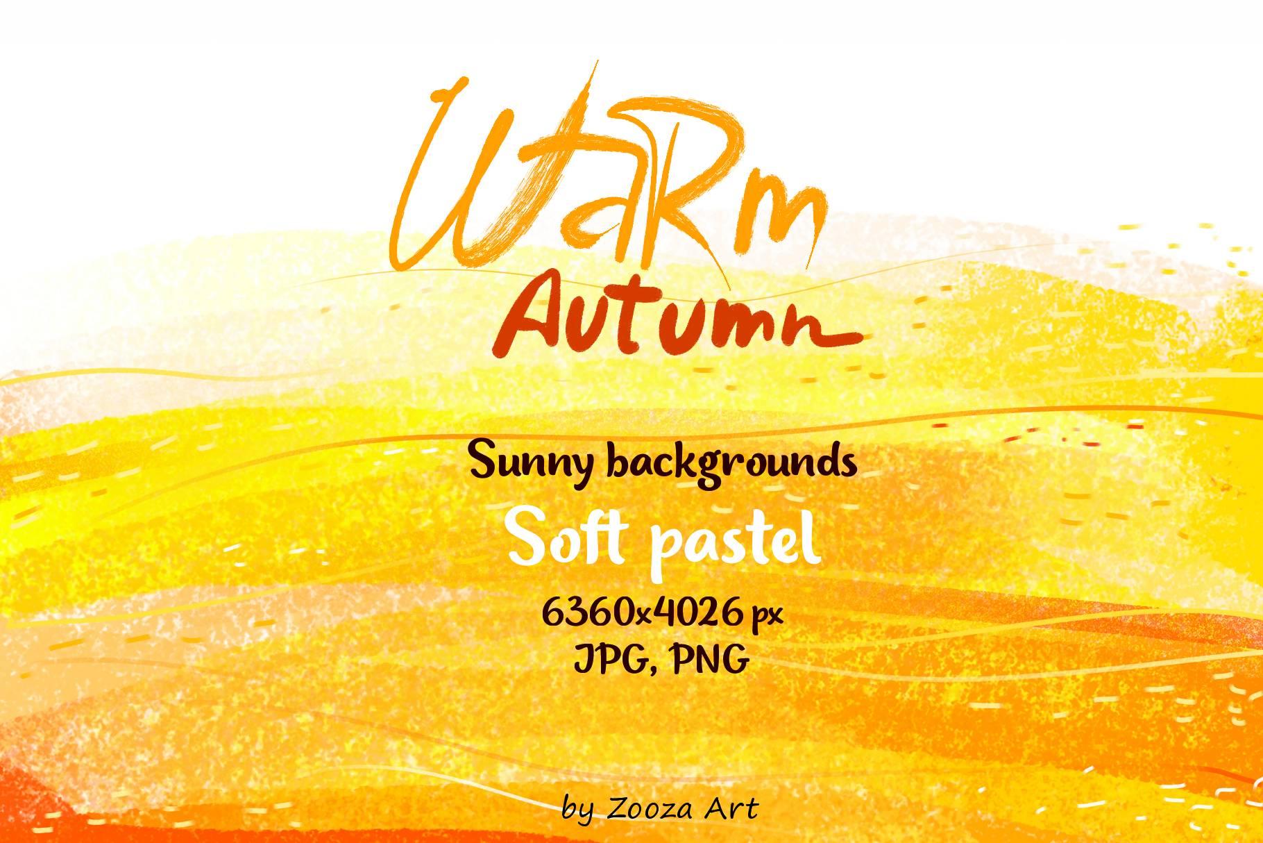 Warm Autumn sunny pastel backgrounds example image 1