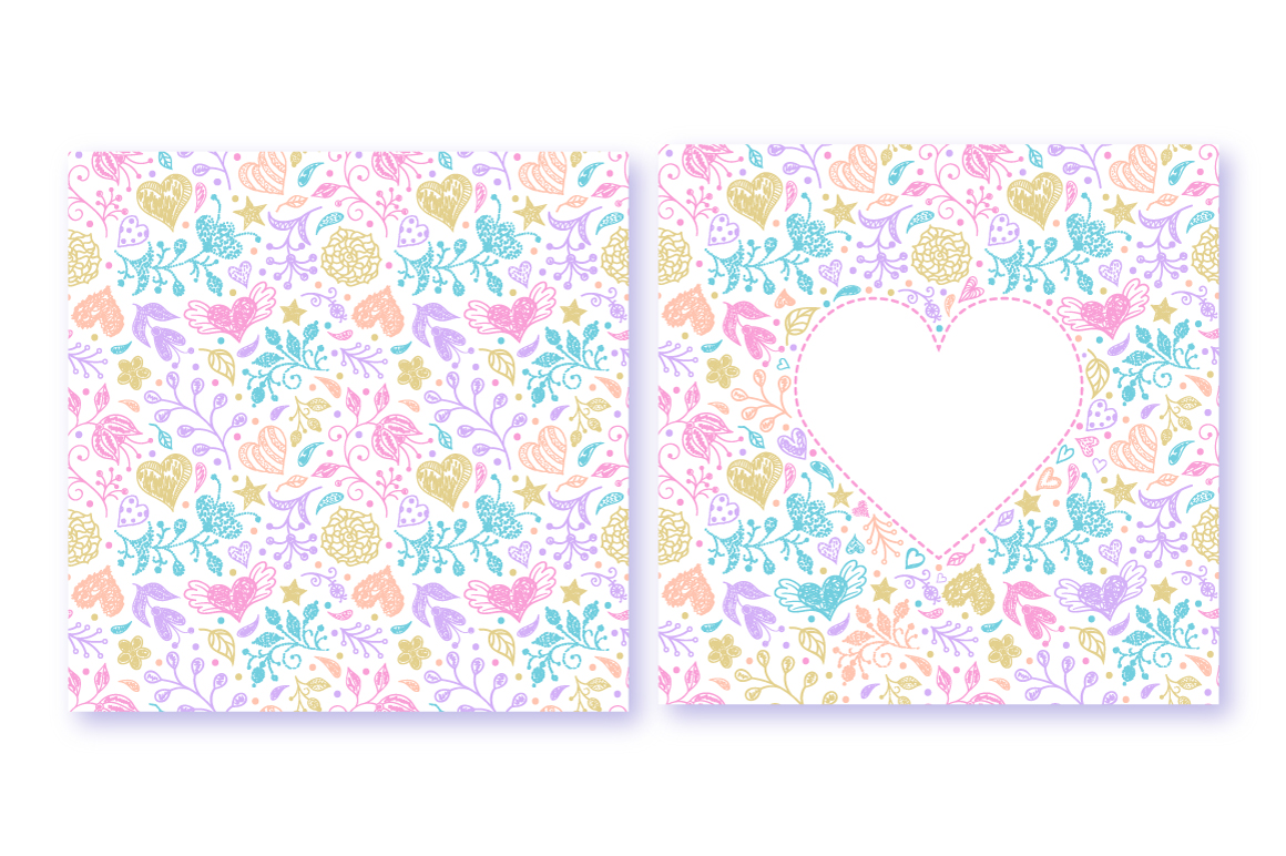 Pastel floral pattern example image 3