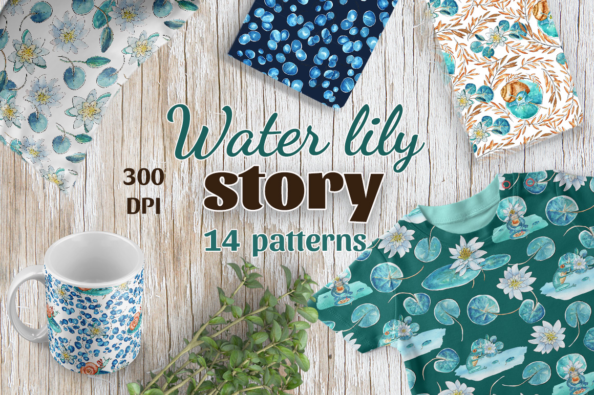 Water lily story - Patterns example image 1