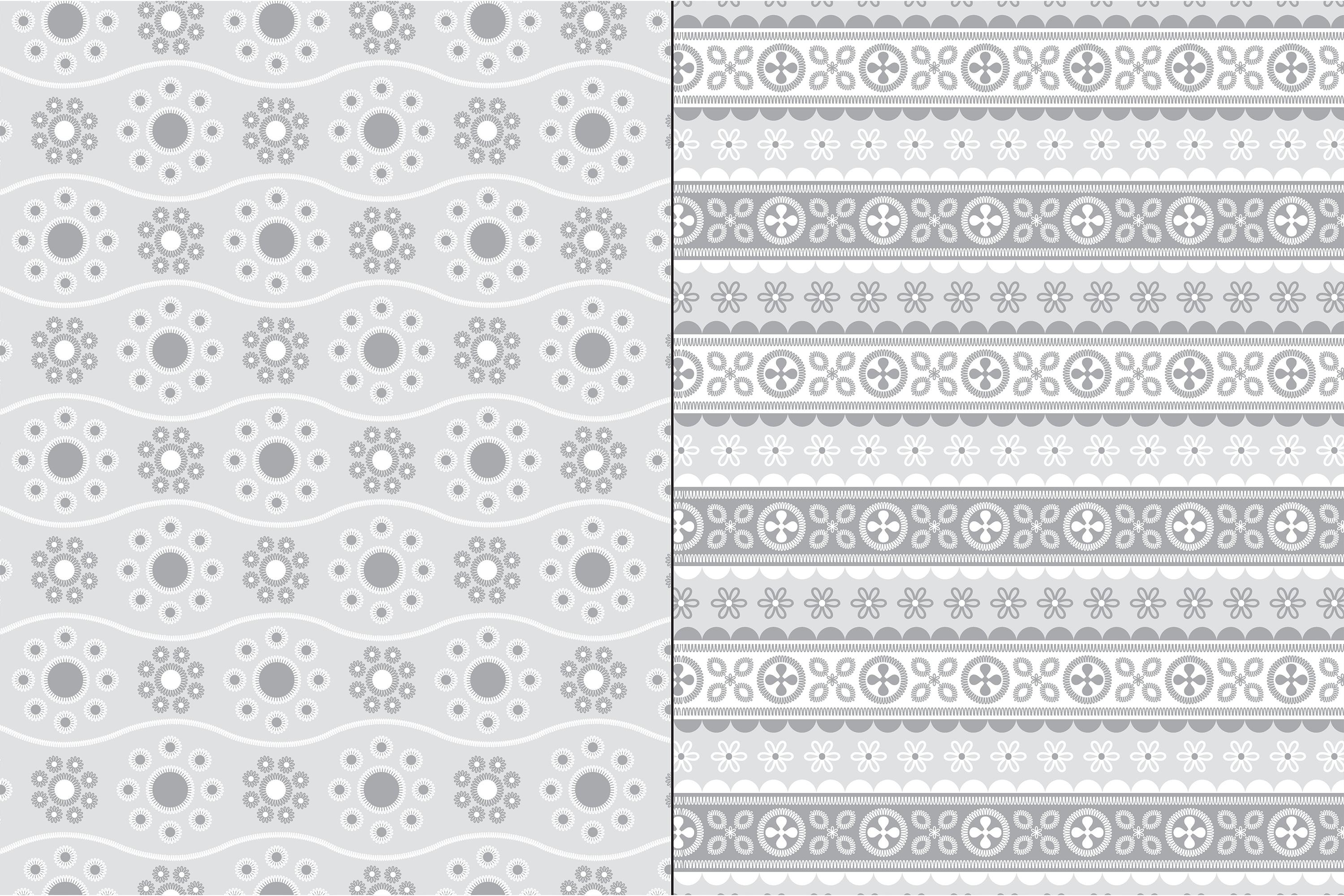 Gray Eyelet Embroidery Patterns example image 4