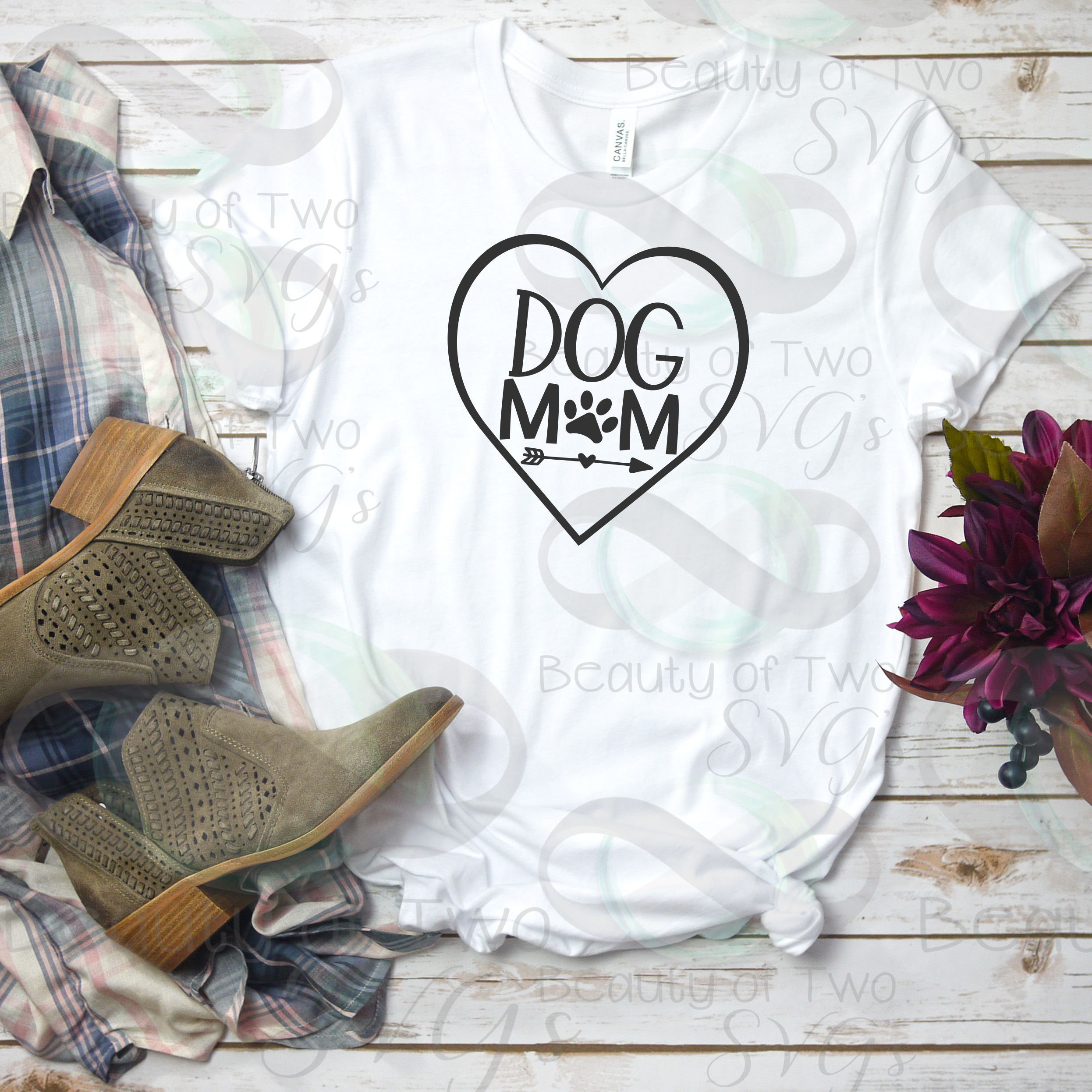 Dog Mom svg, Mothers Day dog svg, love my dog svg, dog svg example image 2