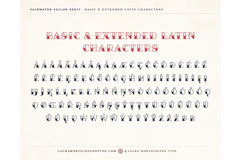Fairwater Deco Serif example image 9