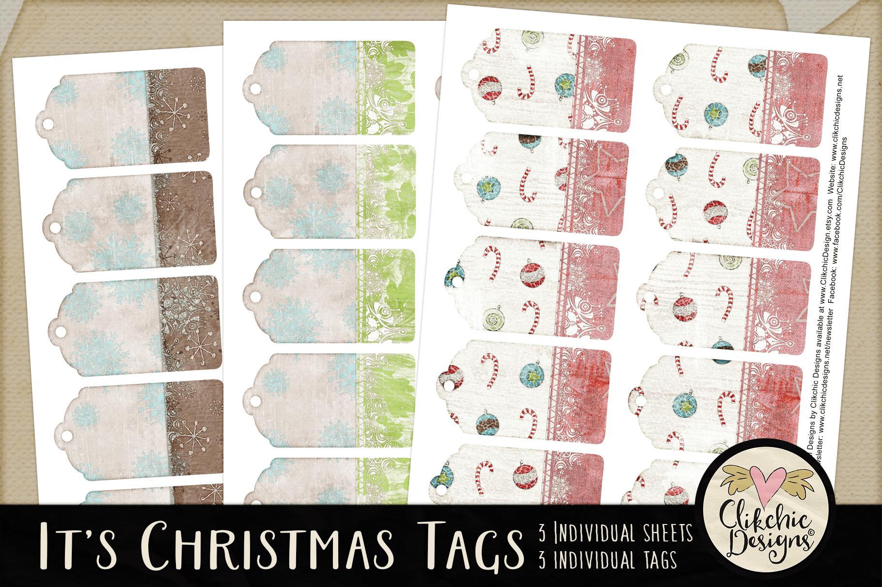 Christmas Tags - Printable It's Christmas Gift Tags example image 2