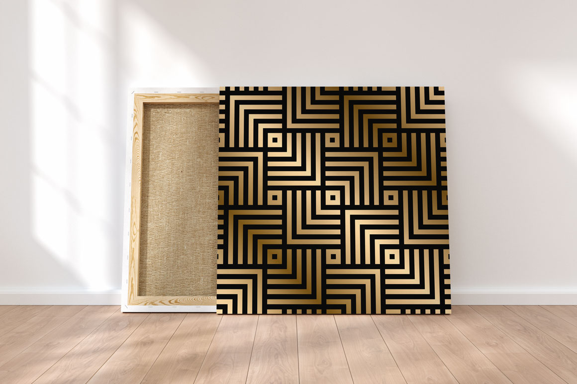 Luxury seamless striped patterns example image 3