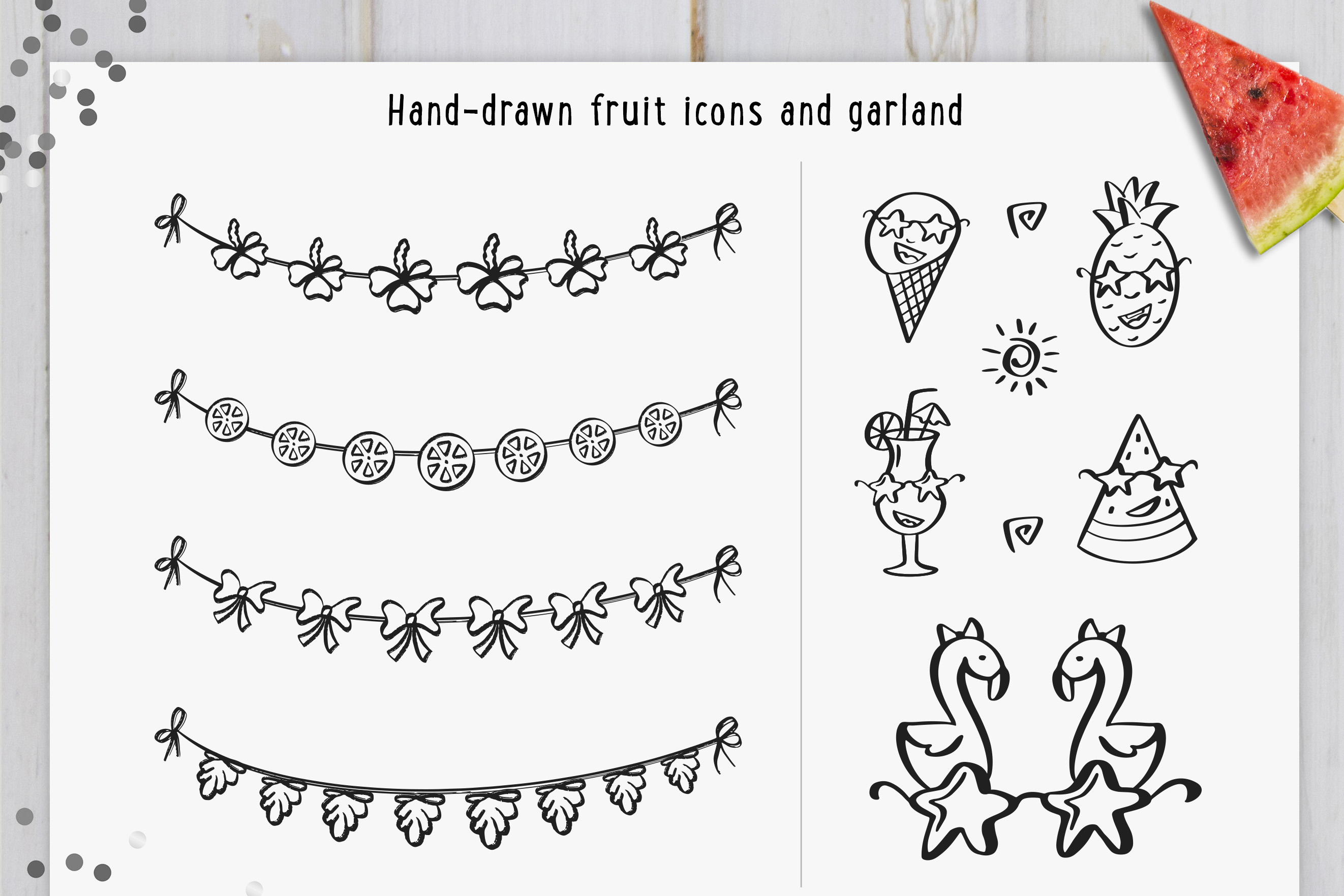 Hand Drawn Tropical style collection example image 5