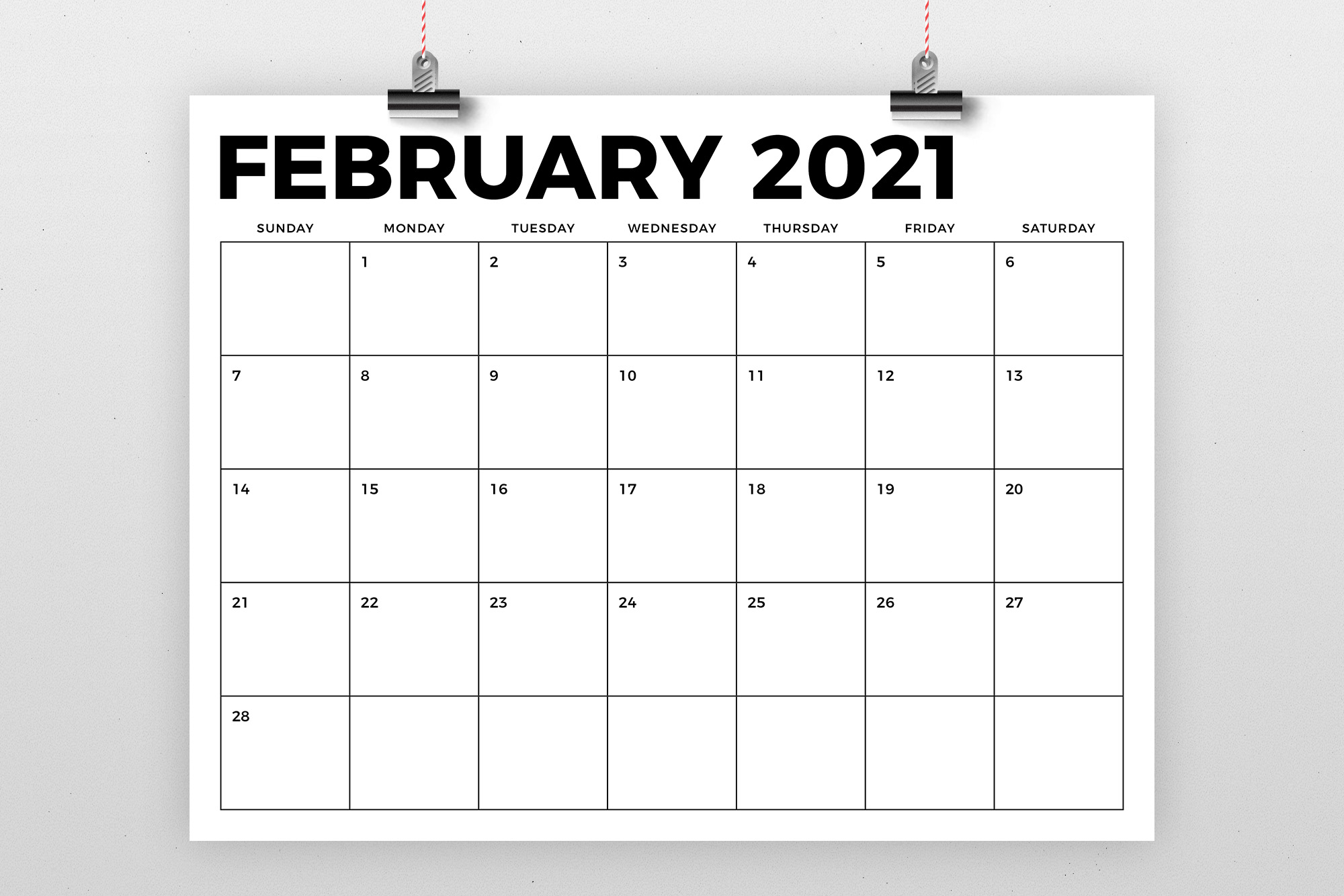 8.5 x 11 Inch Bold 2021 Calendar example image 2