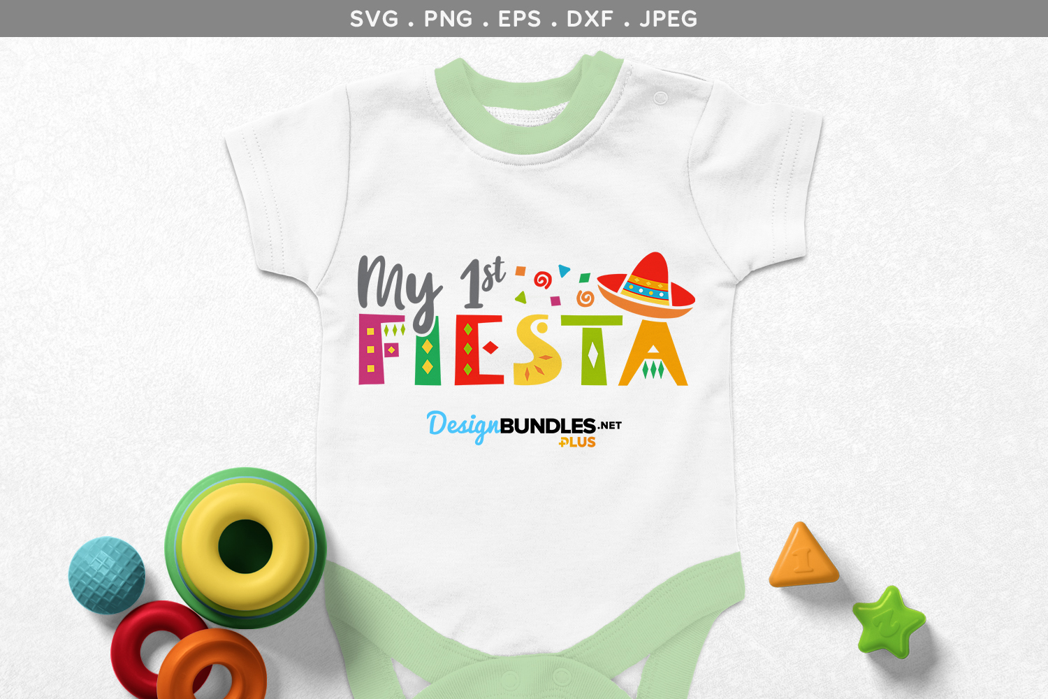My 1st Fiesta - svg & printable example image 1