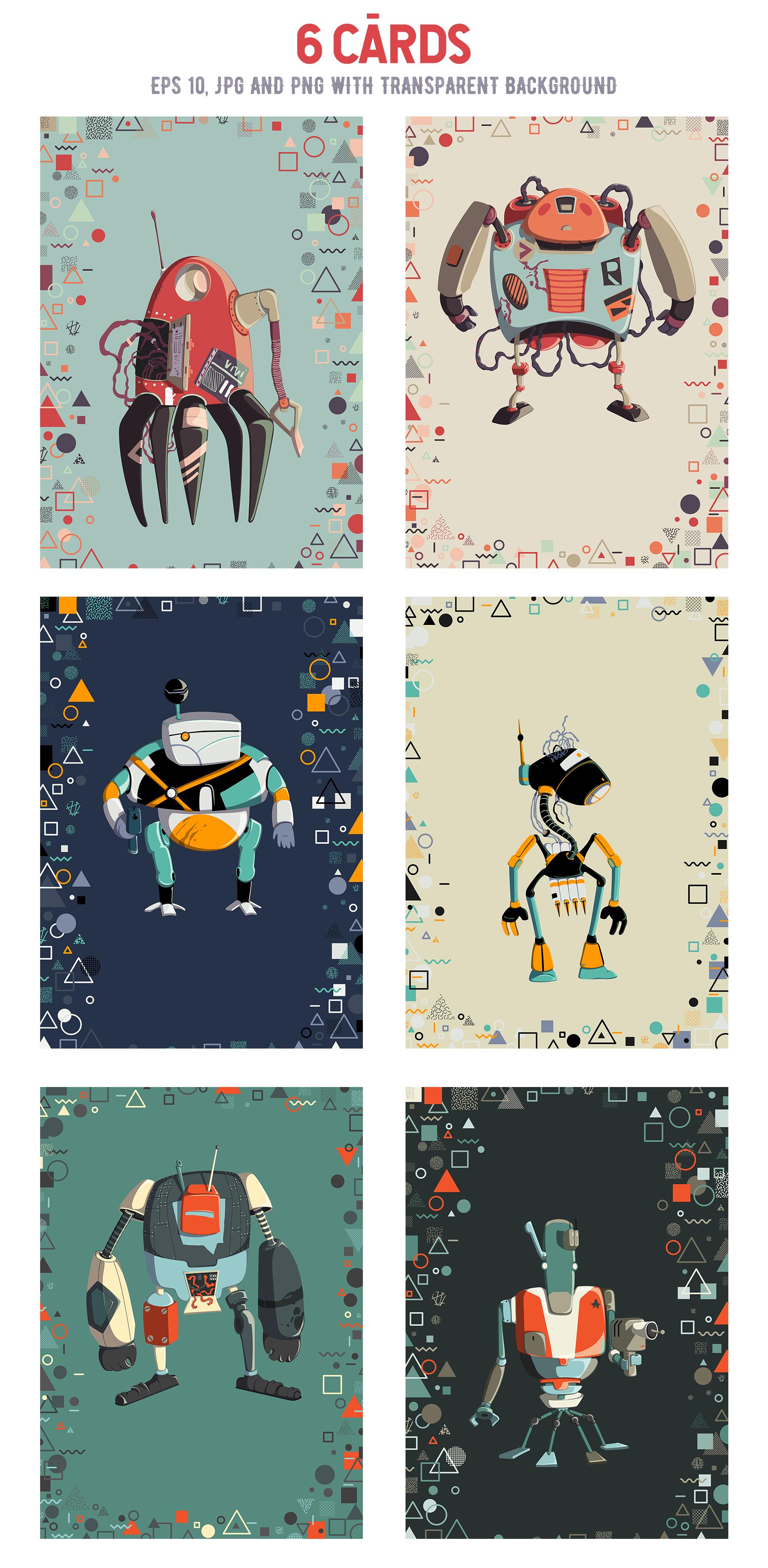 Retro robots example image 5