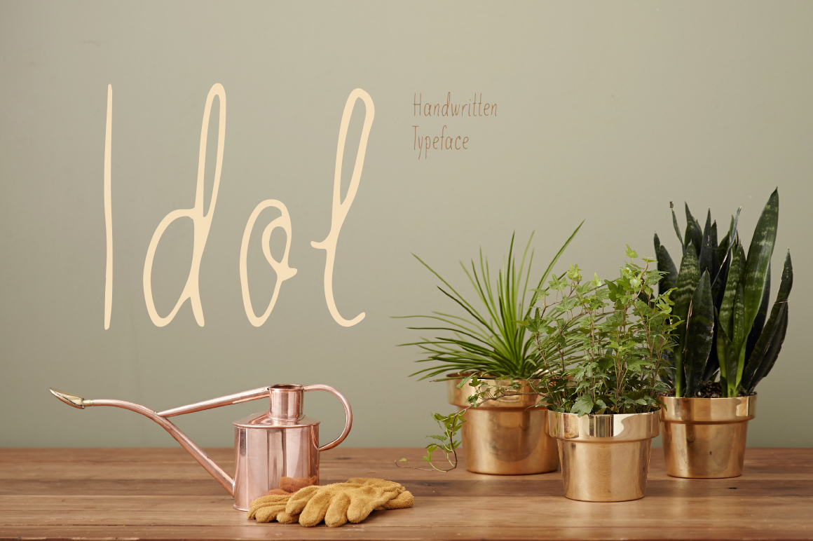 Idol—handwritten font example image 1