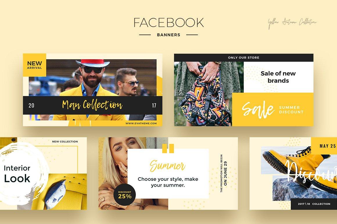 Yellow Autumn Social Media Designs example image 3