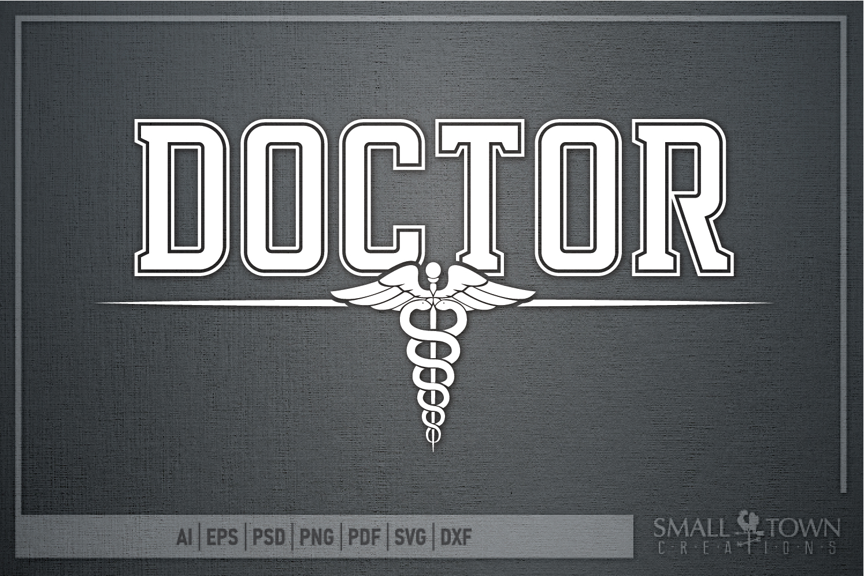 Doctor, Doctor Logo, Caduceus Badge, PRINT, CUT & DESIGN example image 5