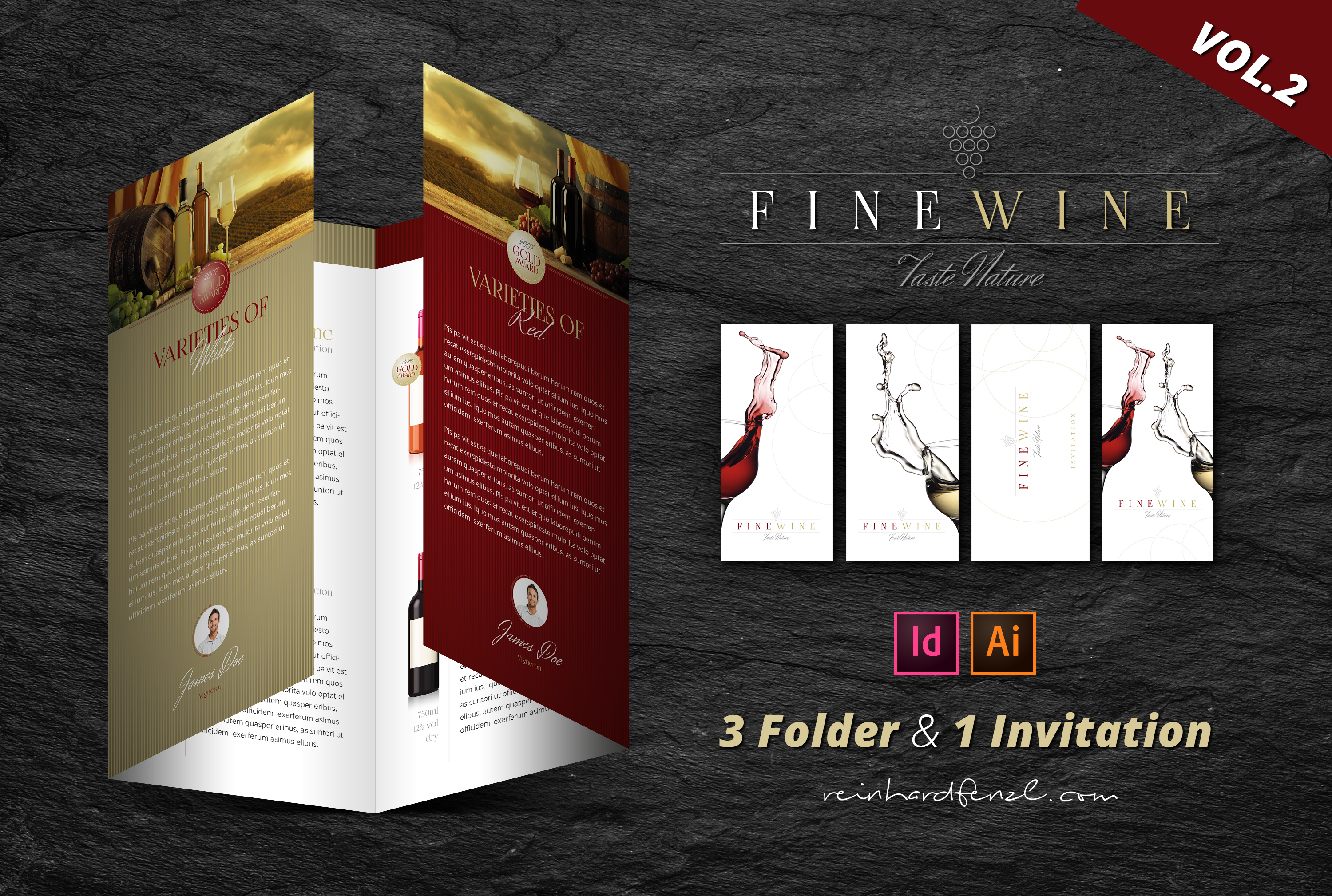Fine Wine Vol.2 - Folder & Invitation example image 1