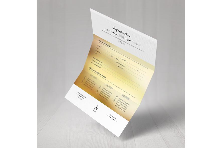 Registration Form Template v15 example image 6