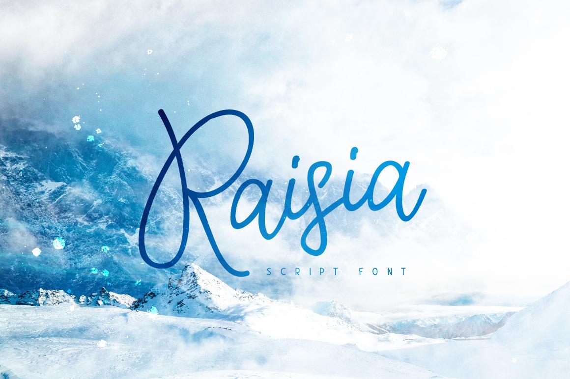 Raisia Script Font example image 1