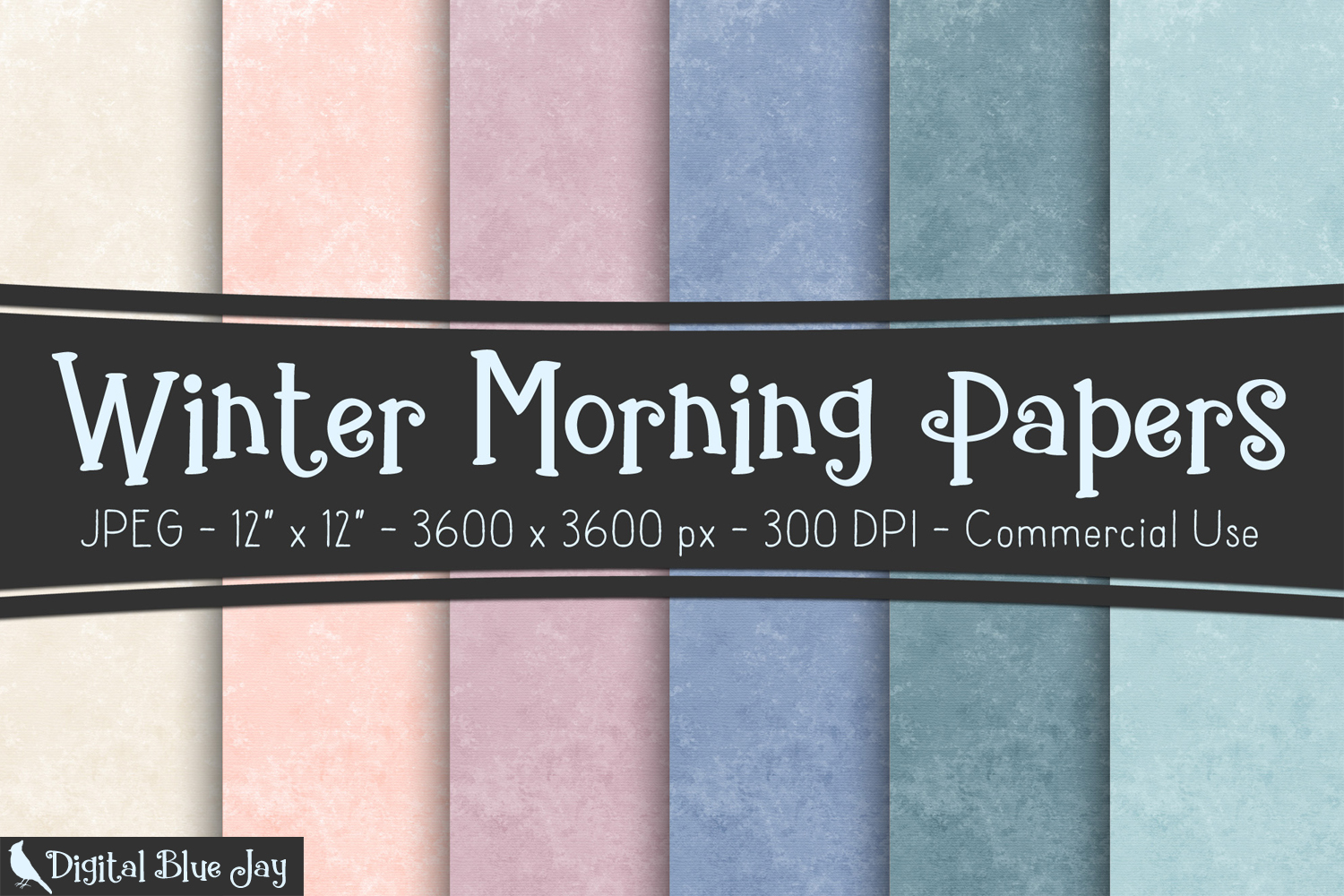Digital Paper Textured Backgrounds - Winter Morning example image 1