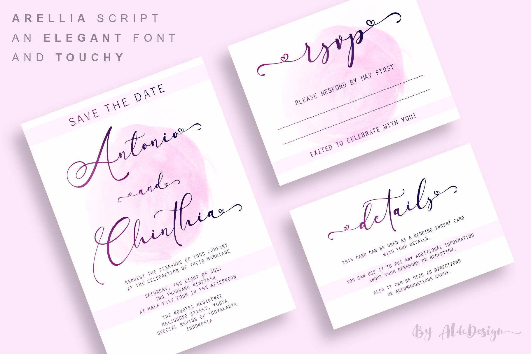Arellia Script // Luxury Font example image 8