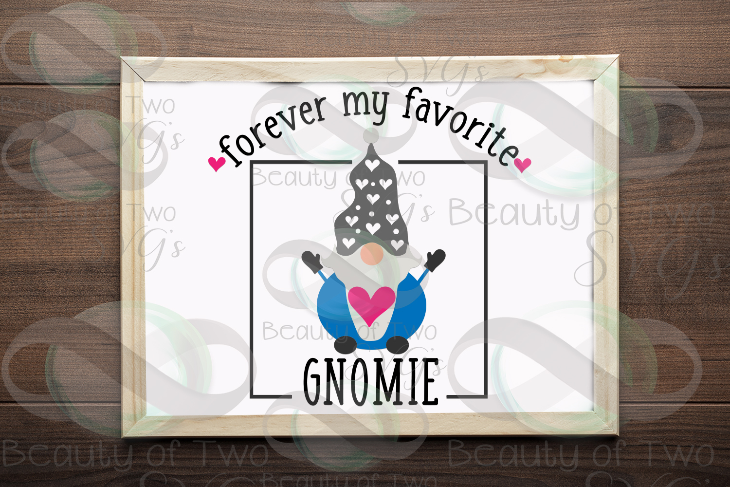 Valentines Forever my favorite gnomie svg, gnome sign svg, example image 2