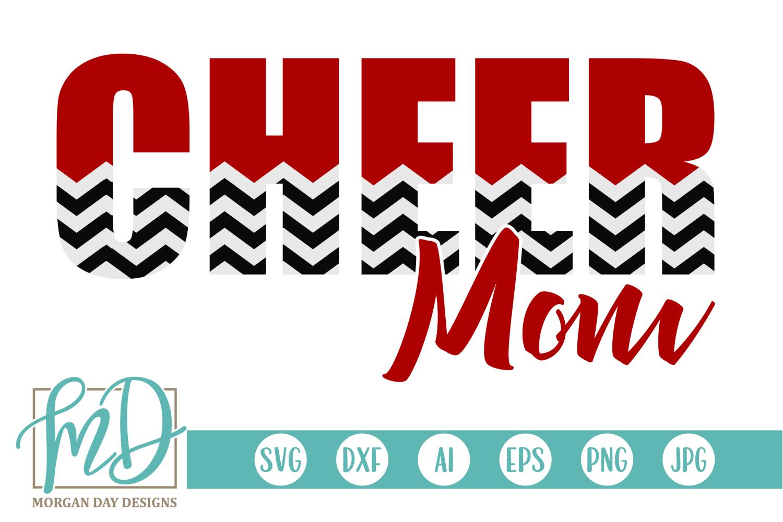 Cheer Mom - Cheerleader SVG, DXF, AI, EPS, PNG, JPEG example image 1