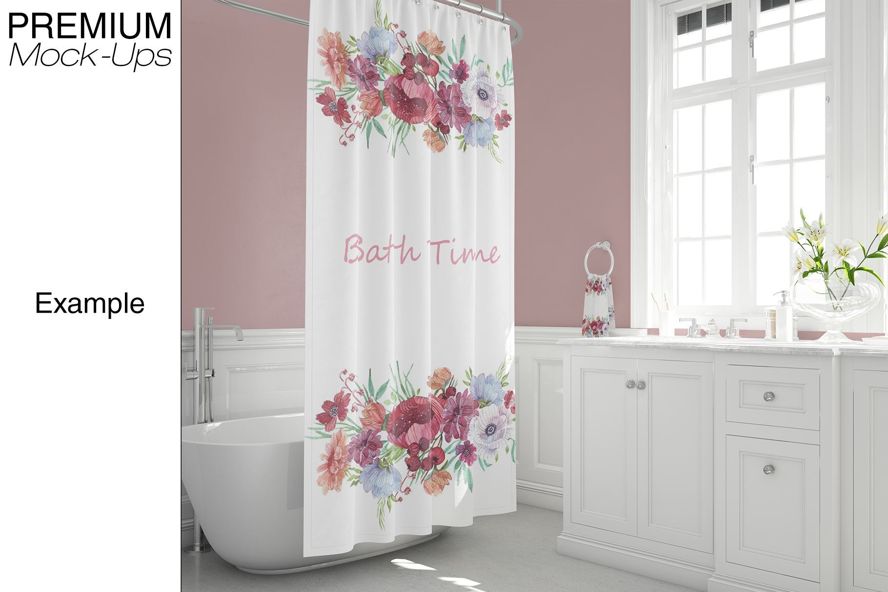 Bath Curtain Mockup Pack example image 18