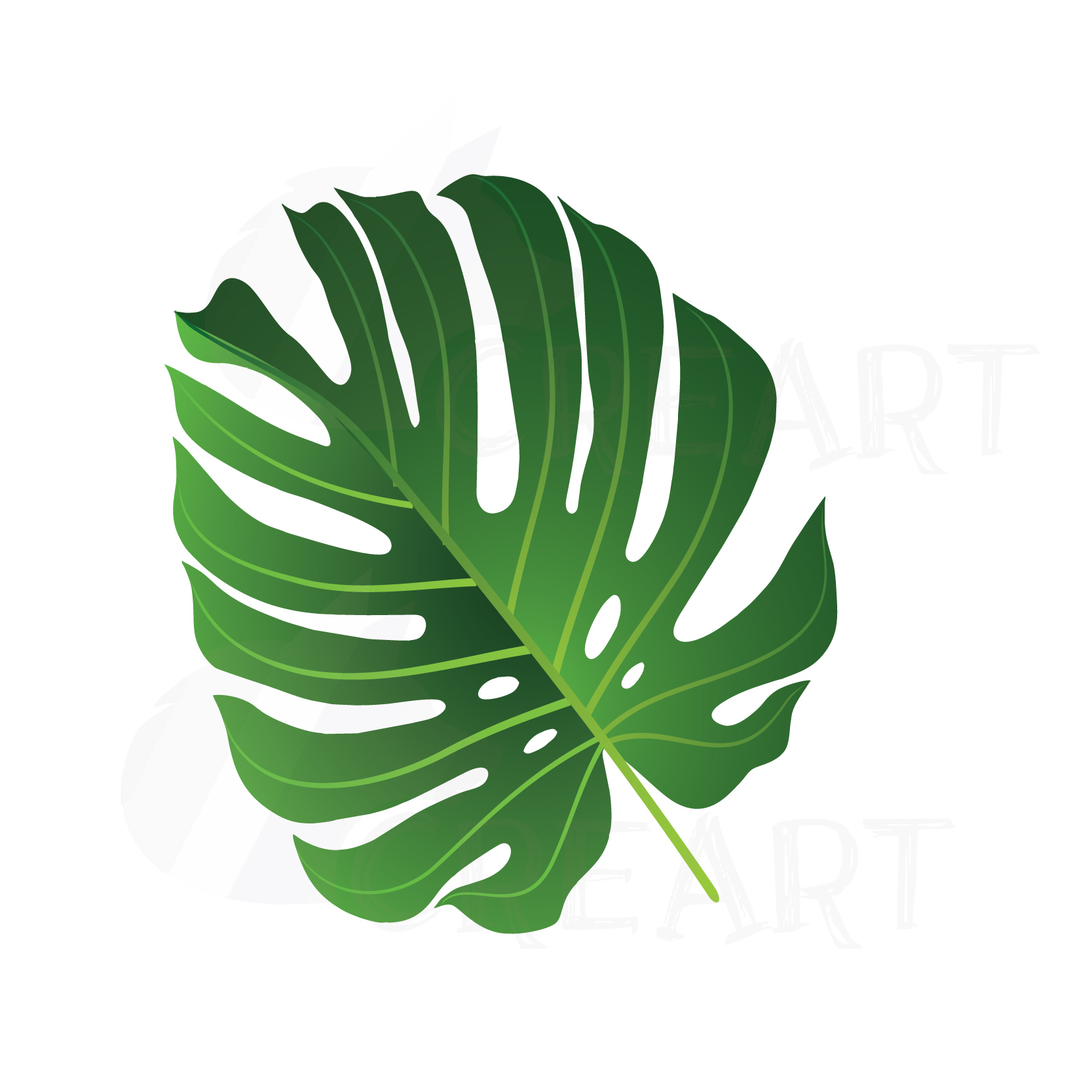 Summer leaf clip art pack, palm leaf collection  Eps, png, jpg, pdf, svg,  vector illustrator & corel files included, instant download