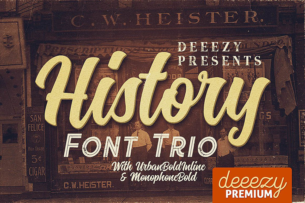 History Font Trio example image 1