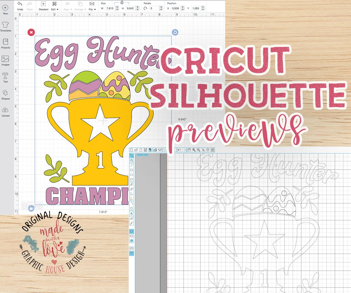 Egg Hunter Champion Cut File and Printable example image 2