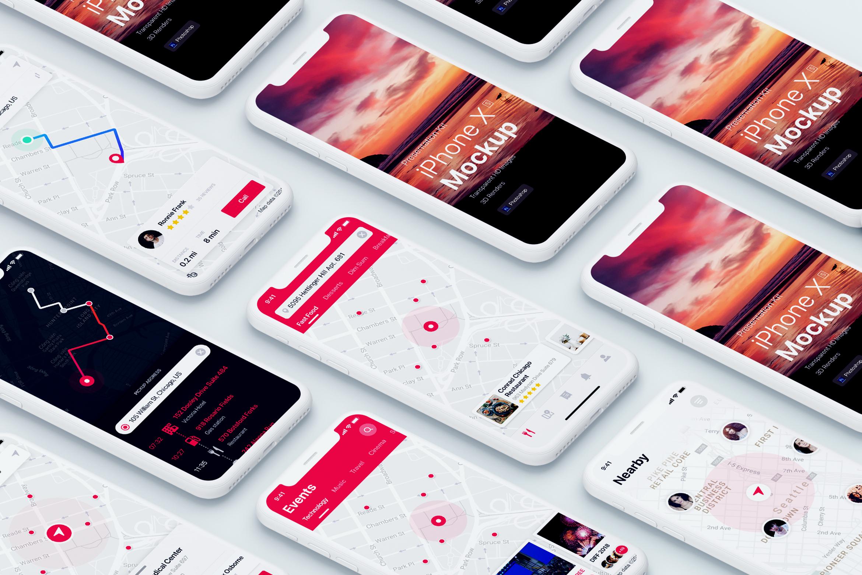 Presentation Kit - iPhone showcase Mockup_v1 example image 2