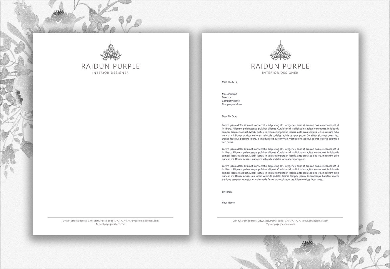 Letterhead Design Template example image 3