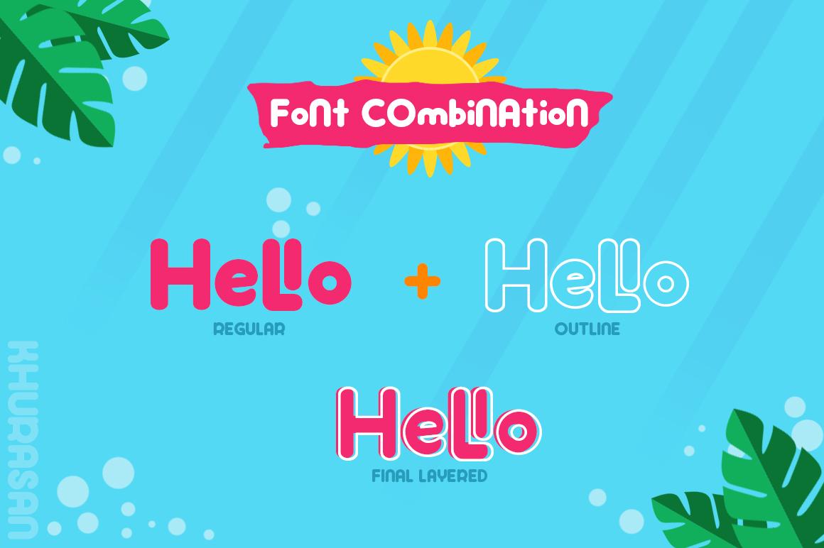 Hi Summer Layered Font example image 6