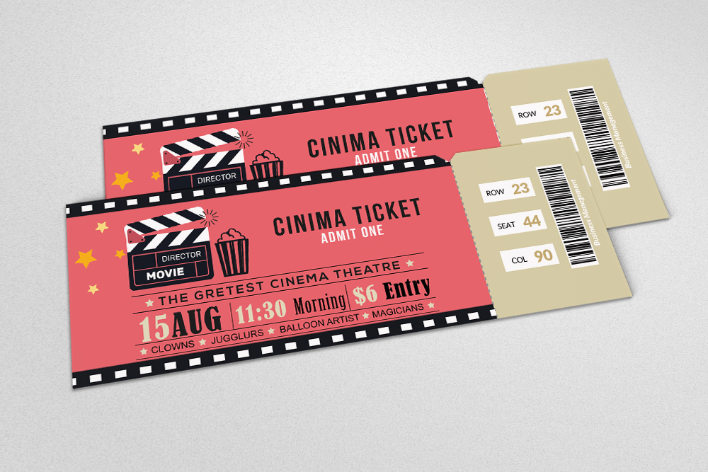 4 Event Party Tickets Bundle example image 2