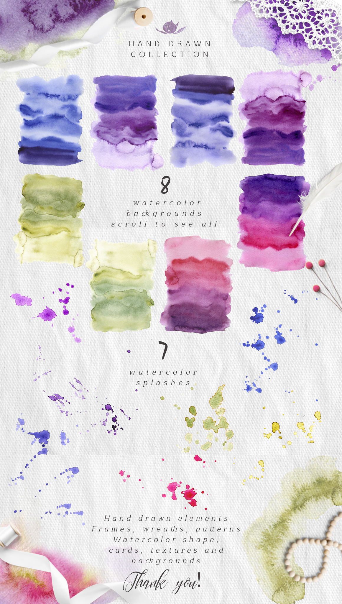 Ultra Violet watercolor collection example image 8