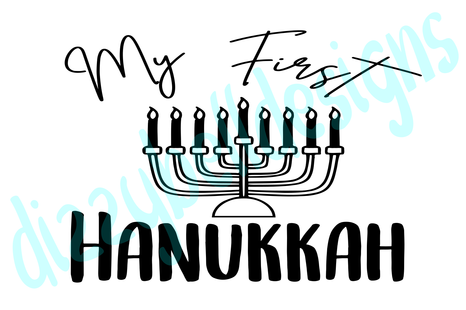 First Hanukkah Baby Bodysuit, First Hanukkah Infant Outfit example image 1