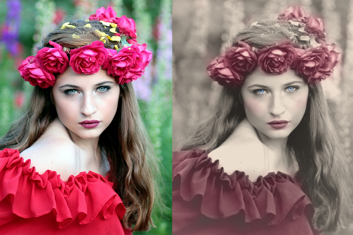 Colorized Old Photo Effect Photoshop example image 8
