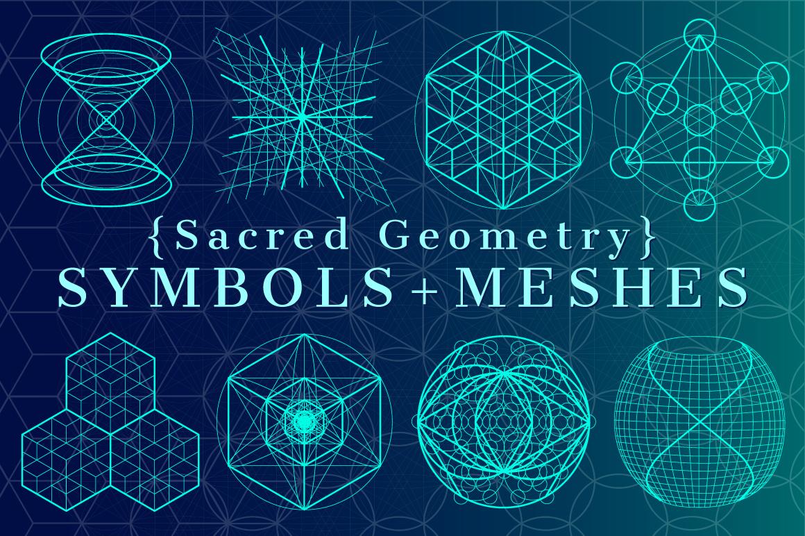 {Sacred Geometry} Symbols + Meshes example image 1