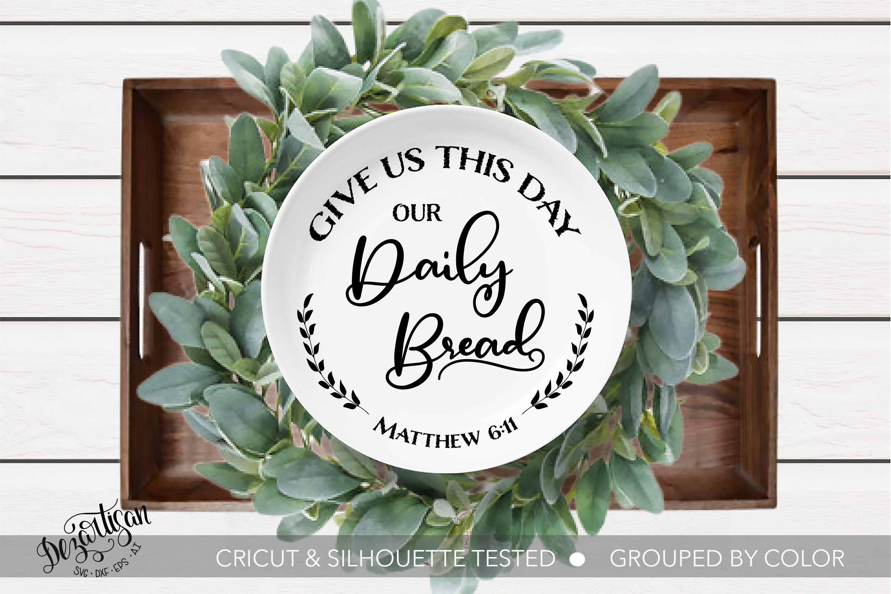 Give us this Day SVG | DXF example image 1
