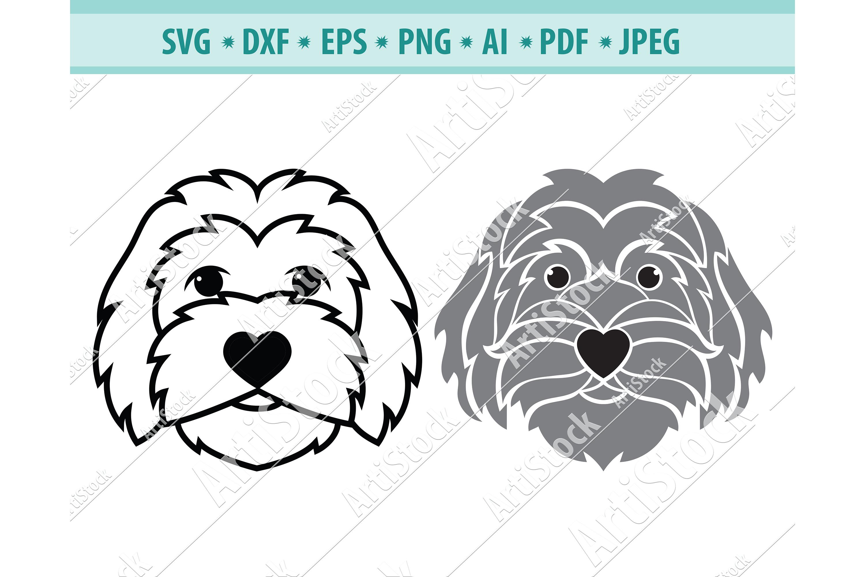 Goldendoodle SVG, Dog Silhouette SVG, Pets Dxf, Dog Png, Eps example image 1