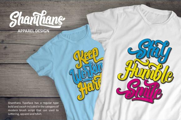 Shanthans Typeface example image 4