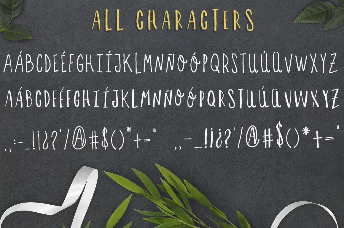 Letras feas - handmade font duo! example image 4