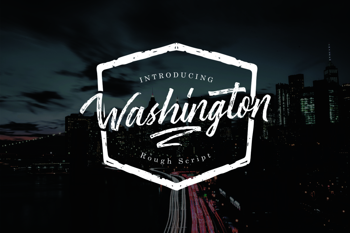 Washington ~ Rough Script example image 1