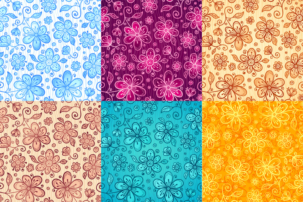 24 vector floral backgrounds example image 2