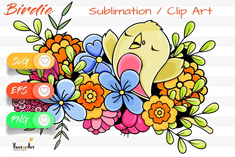 The cute Birdie - Sublimation / Clip Art example image 1
